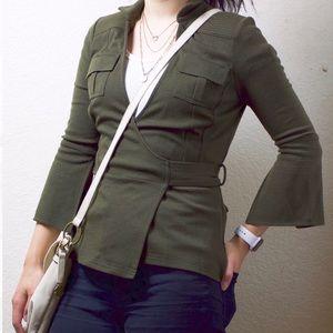 Diane Von Furstenberg Wool Military Style Jacket